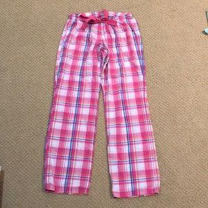 Old Navy pink plaid pajama PJ sleep bottoms S
